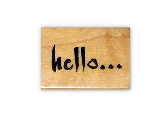 hello... - mounted rubber stamp #1