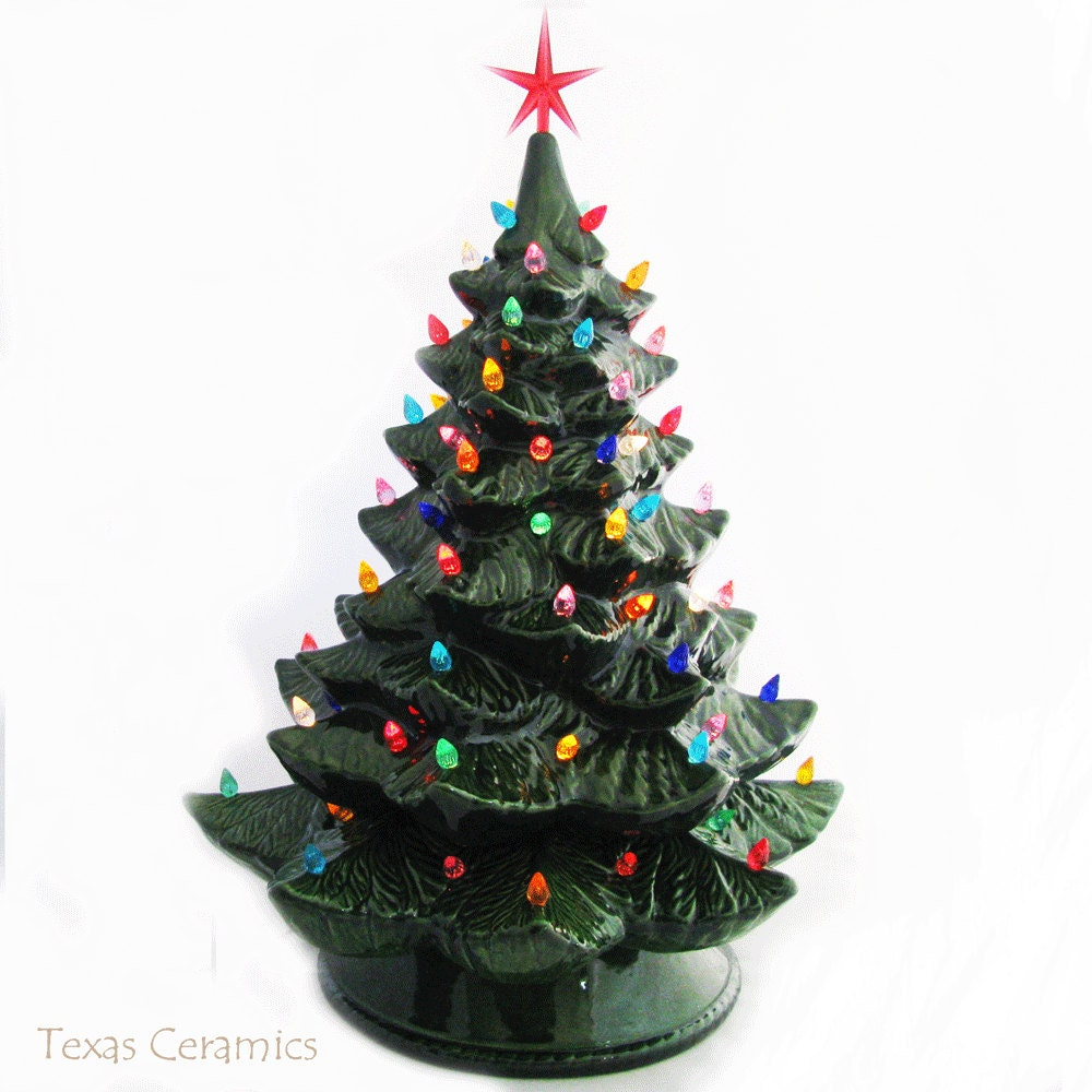 20 Tabletop Christmas Tree Christmas Lights Vintage