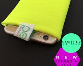 N E W   L i m i t e d   e d i t i o n  -   iphone 6 PLUS  sock -   Fluro yellow