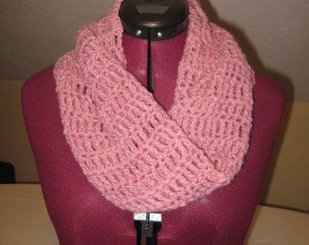 Crocheted Wool Blend Cowl