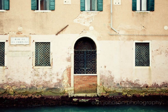 Venice Photography Venice Canal Pink Home Decor Door