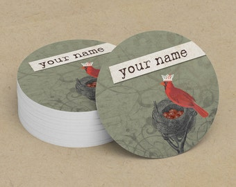 Business Cards  Custom Business Cards  Personalized Business Cards  Business Card Template  Vintage Business Cards  Bird Business Card 11