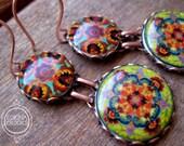 Handmade earrings, Mexican Jewelry, Statement earrings, Dangle earrings, Drop earrings, Ethnic jewelry, Colorful jewelry, Folk Art