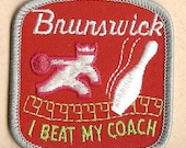 Vintage Brunswick Bowling Patch - I BEAT MY COACH