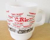 kitschy vintage cb'er milk glass mug
