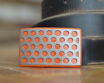 Perforated Steel Belt Buckle by Fosterweld