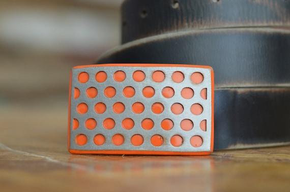 Perforated Steel Belt Buckle by Fosterweld