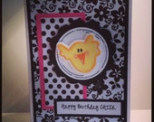 Happy Birthday Chick Handmade Greeting Card