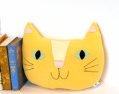 Giant Cat Pillow, Nursery Decor, Kids Room Decor, Kitty Pillow, Kawaii, Plush Cat Softie