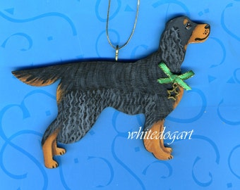 Gordon Setter Handpainted Christmas Ornament