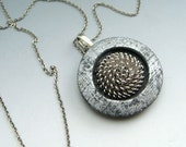 Industrial modern pendant on chain with spiral