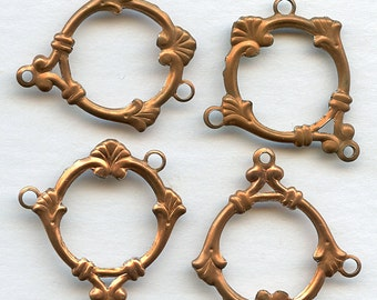Vintage Frames (10) Dangles Pendant 25 mm x 30 mm Metal with Holes Jewelry Findings Wreath MORE AVAILABLE  jc 3lbf