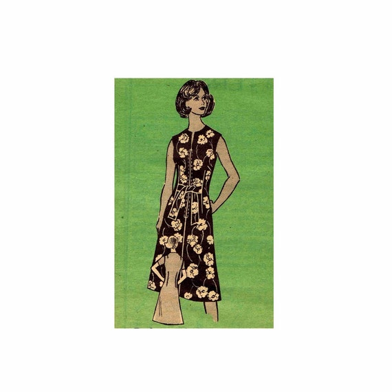 1970s womens dress mail order 9442 vintage sewing by