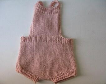 Pale Pink Knit Romper/Playsuit