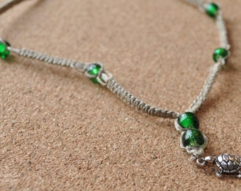 Little Turtle Hemp Necklace