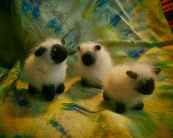 Flock of Sheep, Or just One Lonely Sheep, Needle felted wool, Made to Order