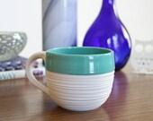 Turquoise Mug - SHOP SALE - Groove Mug in Turquoise