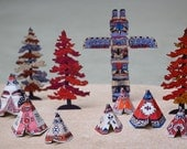 Tiny Tipi Town - a diorama in a box
