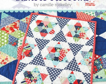 MINI Starlight quilt pattern from Thimble Blossoms
