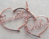 Personalized Sweetheart Necklace  - Two Names in Rose Gold
