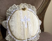 Cross Applique Boho Wedding Ring Bearer Pillow
