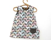 Organic cotton Smock Dress for 4-5 year old