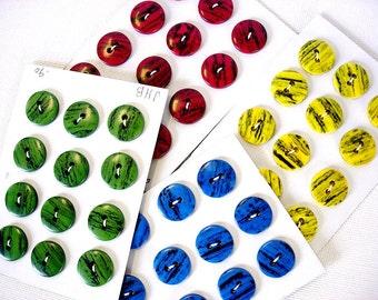You Pick Color-Same Design-Different Colors Vintage Plastic Buttons