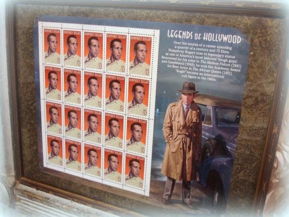 Framed Legends Of Hollywood Humphrey Bogart Stamps Stamp