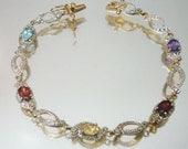Sterling Silver Bracelet Gemstones Vermeil Delicate