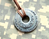 United By Love, Separated By Duty Custom Metal Stamped Latitude / Longitude Keychain