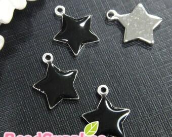 CH-EX-01001BL - Puffy Star, black, 6 pcs