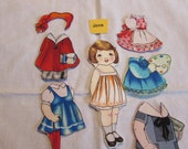 Aunt Lindy's Fabric Paper Doll With Five Dresses