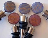 """Wine Stopper Fun Quotes: Your choice of """"Happy Hour"""", """"Wine-o"""", """"Wine Snob"""", """"Mommy's Juice"""" or """"Wine Time"""" polymer clay bottle top quip"""