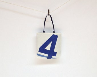 Recycled Sail Bag - Blue 4 with Stripe