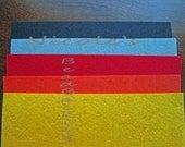 Nicole's BeadBacking 12x9 NBB 5 colors  Bead Embroidery Soutache Beading