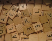 Choose INDIVIDUAL Genuine Vintage Scrabble Tiles, Use Letters or Blank Back for Jewelry, Tie Tacks, Magnets, Pendants, Crafts