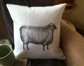 sheep illustration  throw pillow cover, decorative throw pillow
