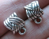 Ship from USA: 12pcs Tibetan Silver braided Pendant Bails Charm connector holder fits European snake chains