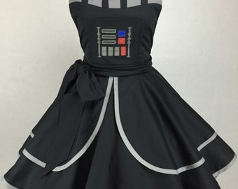 Star Wars Inspired Handmade Darth Apron - Full Circle Skirt Pin Up Costume