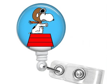 Choose Your Style RED BARON SNOOPY Retractable Badge Reel