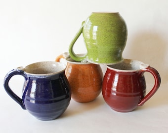 One Speckled Mug, No Name, Glazed in your Choice of Exterior Color, ready in 3-4 weeks