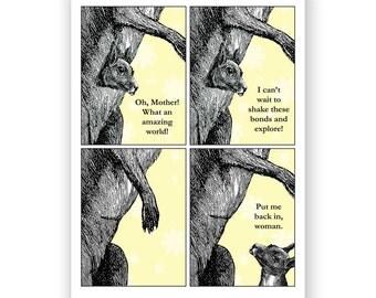 Kangaroo Mother's Day Card