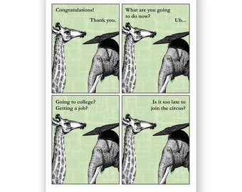 Elephant Graduation Card