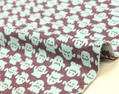 Japanese Fabric Ghosts Interlock Knit - chocolate mint