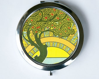Art Nouveau Tree Compact Mirror Pocket Mirror