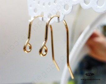 50 pcs 20 Gauge 14K GF Tulip French Ear Wires Gold Filled F396GF