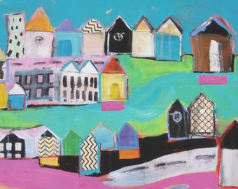 Original painting by Michelle Daisley Moffitt....Inner City