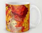 There is Nothing Left for You Back There 11oz Mug Steamy Steampunk gears autumn fire key