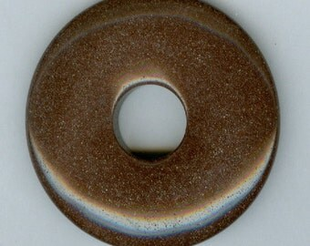 50mm Brown Agate PI Donut Pendant 227T