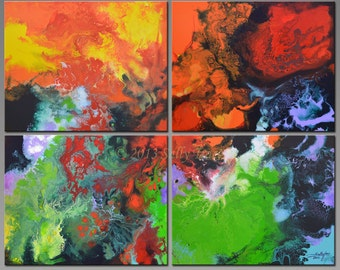 Abstract Paintings, Acrylic Paintings, Modern Art, Wall Art, 32x40 inches, In the Vortex